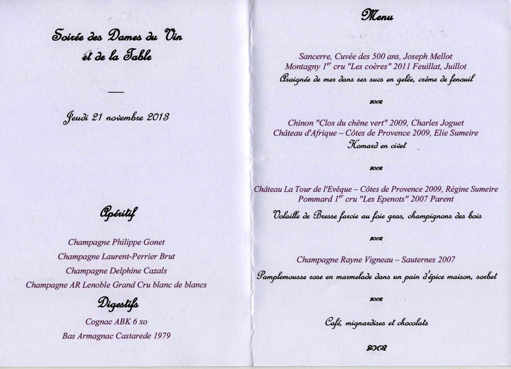 dîner de l'ordre ds dames du vin 001