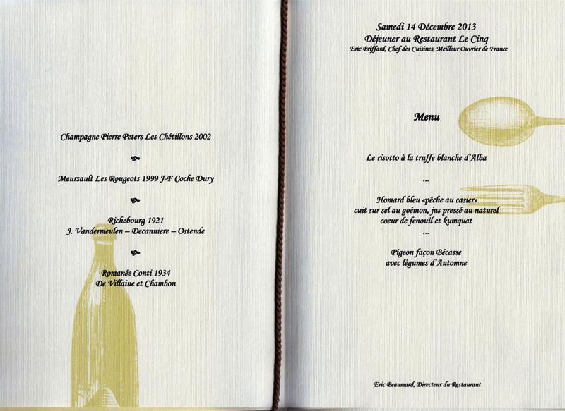 menu george V 131214 001