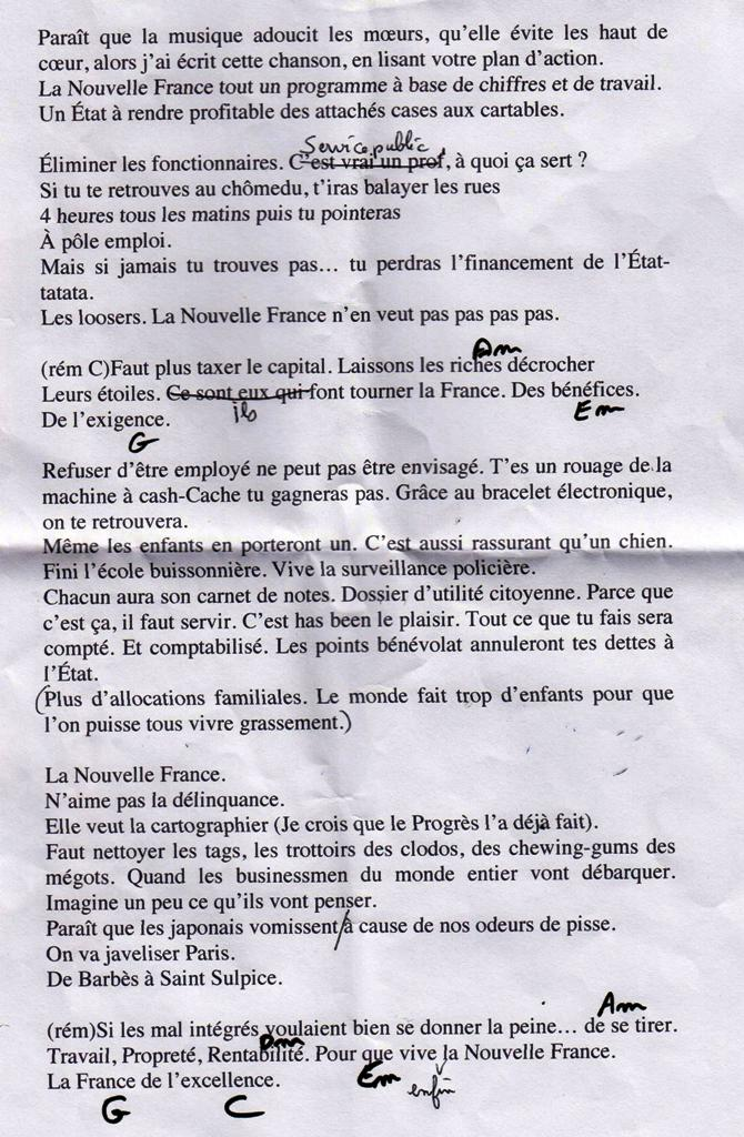 chanson sur France Inter sur mon livre 001
