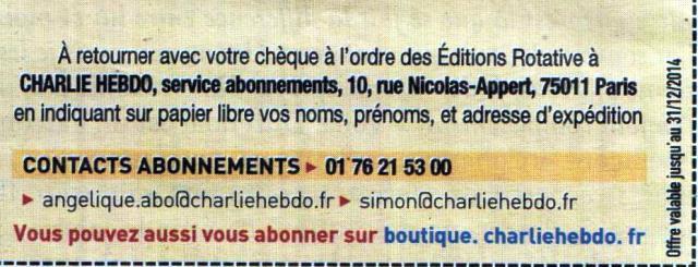abonnement Charlie Hebdo 001